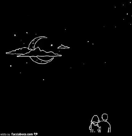 Io sarò la nube e tu la luna